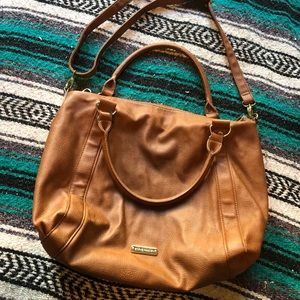 Steve Madden Light Brown Leather Tote